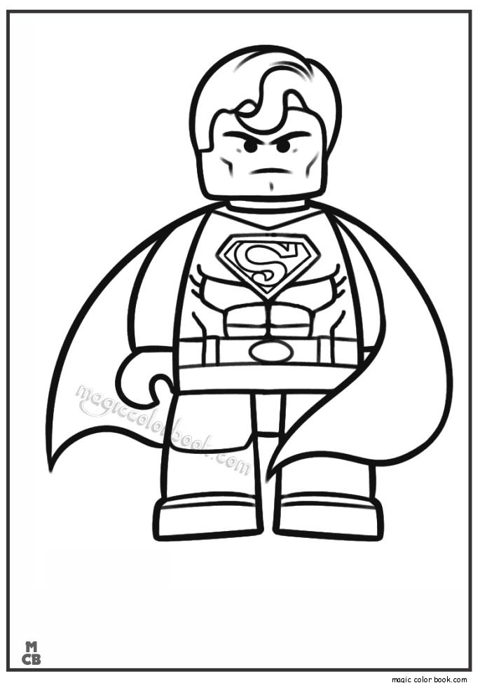 Lego Coloring Pages Free Printable 04 With Images Superhero Coloring Pages Lego Coloring Pages Superman Coloring Pages