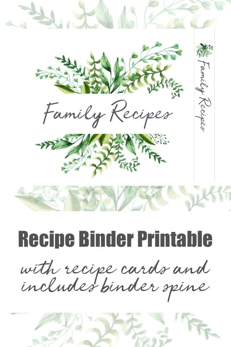 Recipe Template For Binder And Cards Recipe Book Printables Recipe Template Recipe Cards Printable Free
