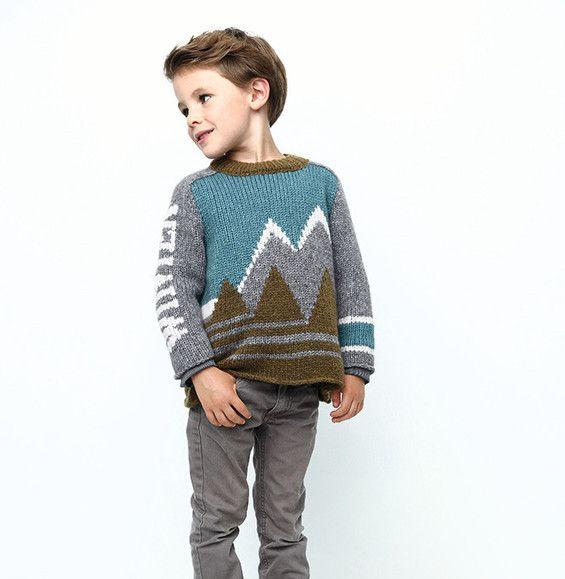 Modèle pull hiver enfant - Modèles Enfant - Phildar   Catalogue 661 ... 9e8d364425a