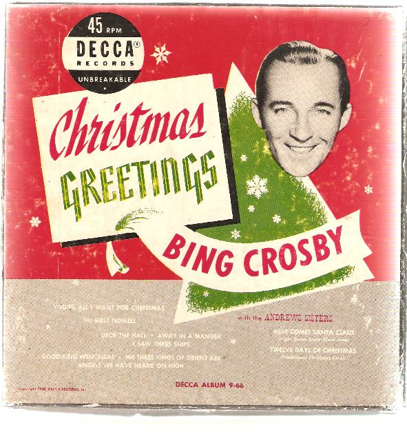 Bing Crosby Christmas Album.Bing Crosby Christmas Greetings Bing Crosby Christmas