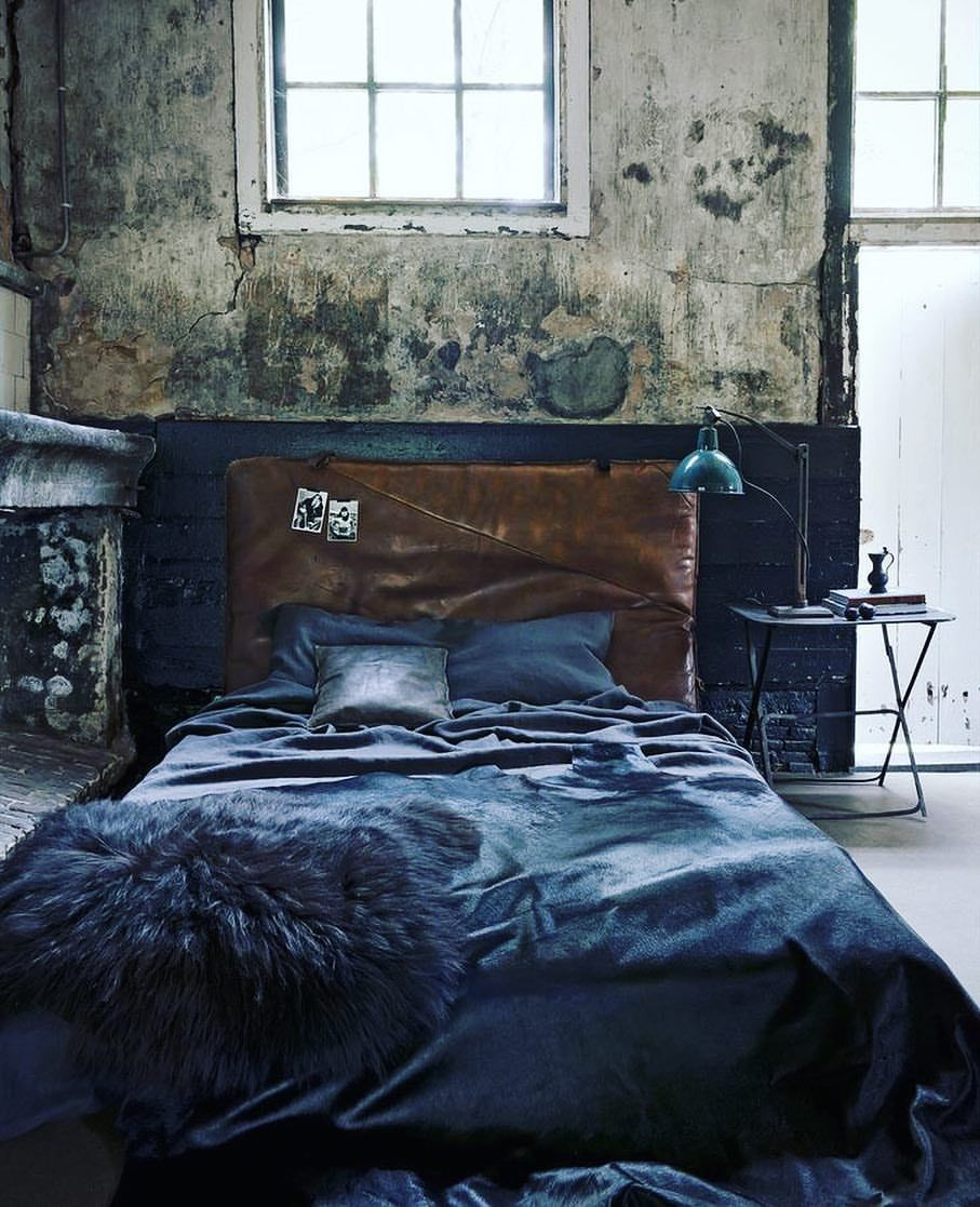 Beautiful Bedrooms Blue Industrial Interior Design 2 417  # Gadsden Muebles