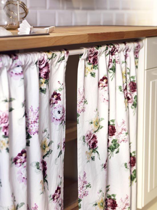 cortina bajo mesada | Cocinas de estilo rústico, Muebles ...