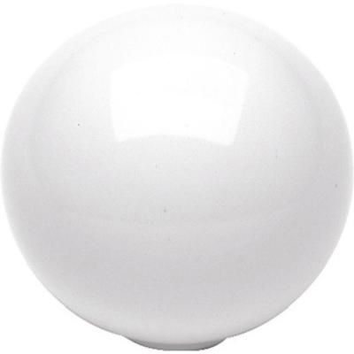 Hickory Hardware Conquest 1-1/4 in. White Cabinet Knob-P14021-W - The Home Depot