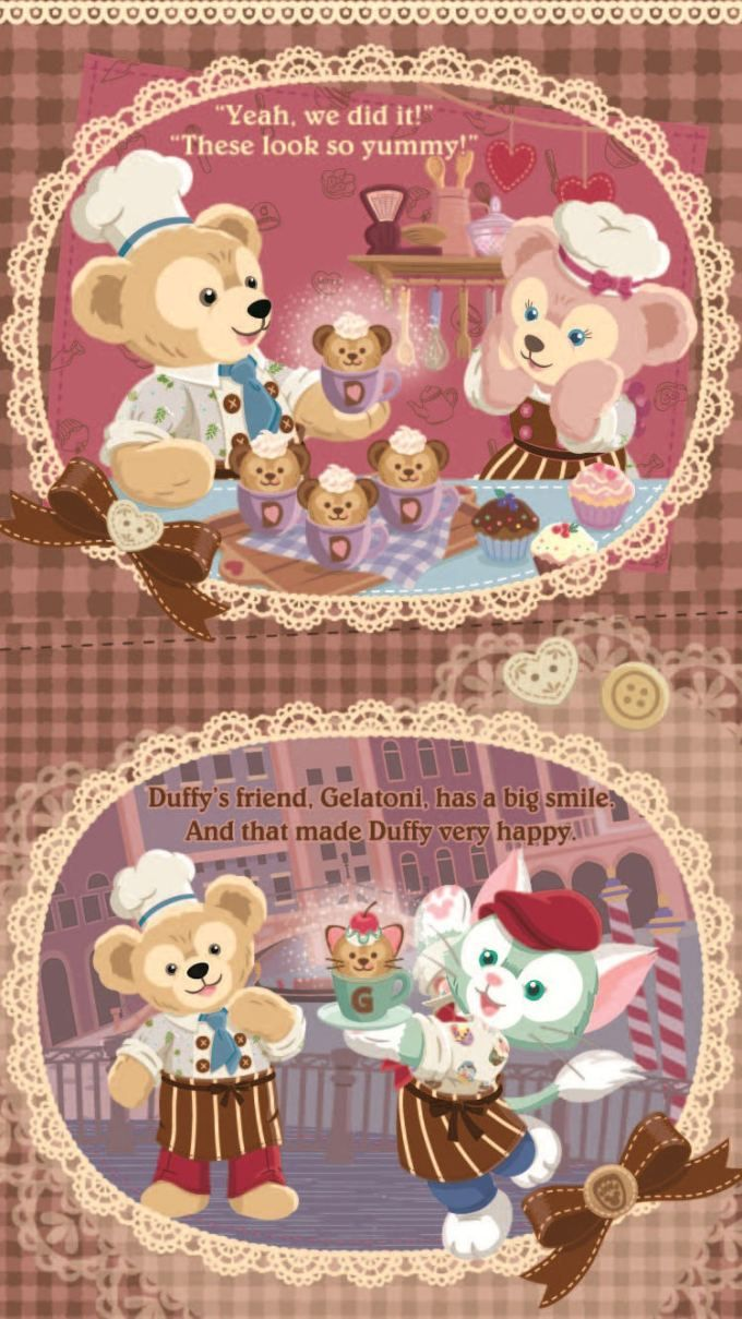 ダッフィー/Duffy[02]iPhone壁紙 iPhone 7/7 PLUS/6/6PLUS/6S/ 6S PLUS/SE Wallpaper  Background