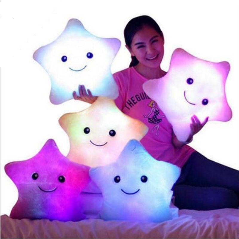 Christmas toys pillow valentines gift led light pillow