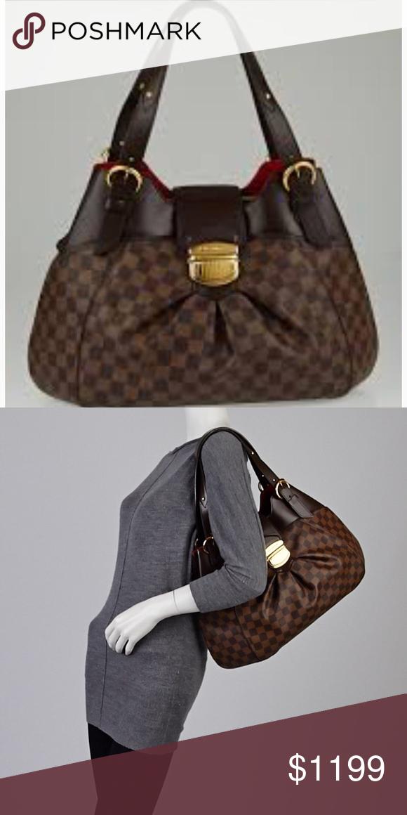 7b26832d8ac Authentic Louis Vuitton sistina GM The Louis Vuitton Damier Canvas Sistina  GM Bag is a sleek