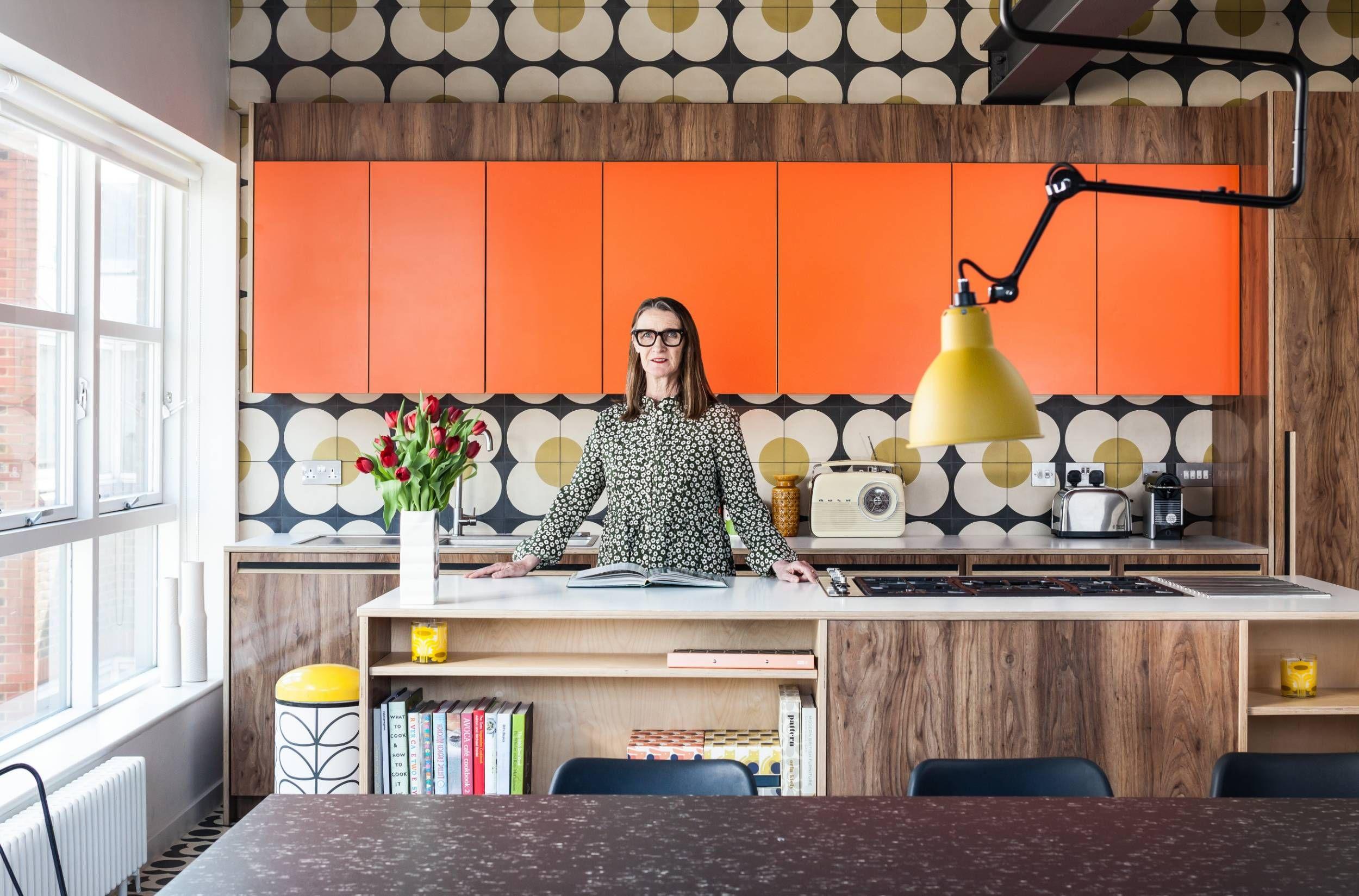 See inside designer Orla Kiely's riotously patterned