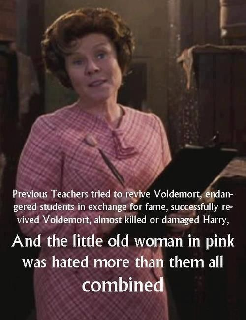 It Was That Snide Little Giggle That Did It A Imelda Staunton For Playing Umbridge Perfectly Harry Potter Obsession Harry Potter Love Harry Potter Fandom