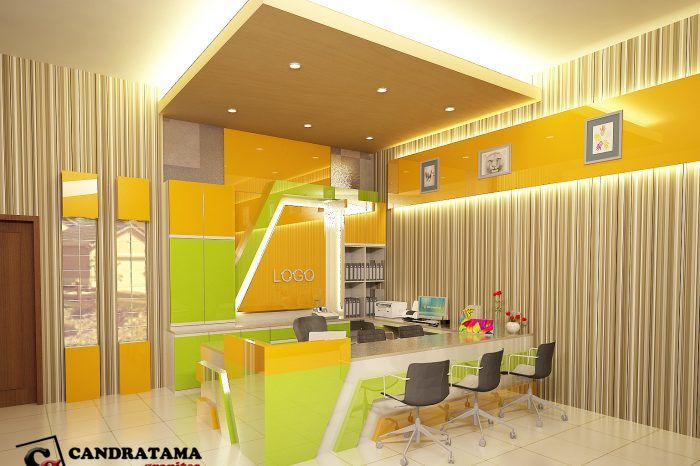 Desain Interior Kediri Ruang Lobby Kantor Receptionist Ruang Kerja Kediri Malang Surabaya Desain Interior Minimalis