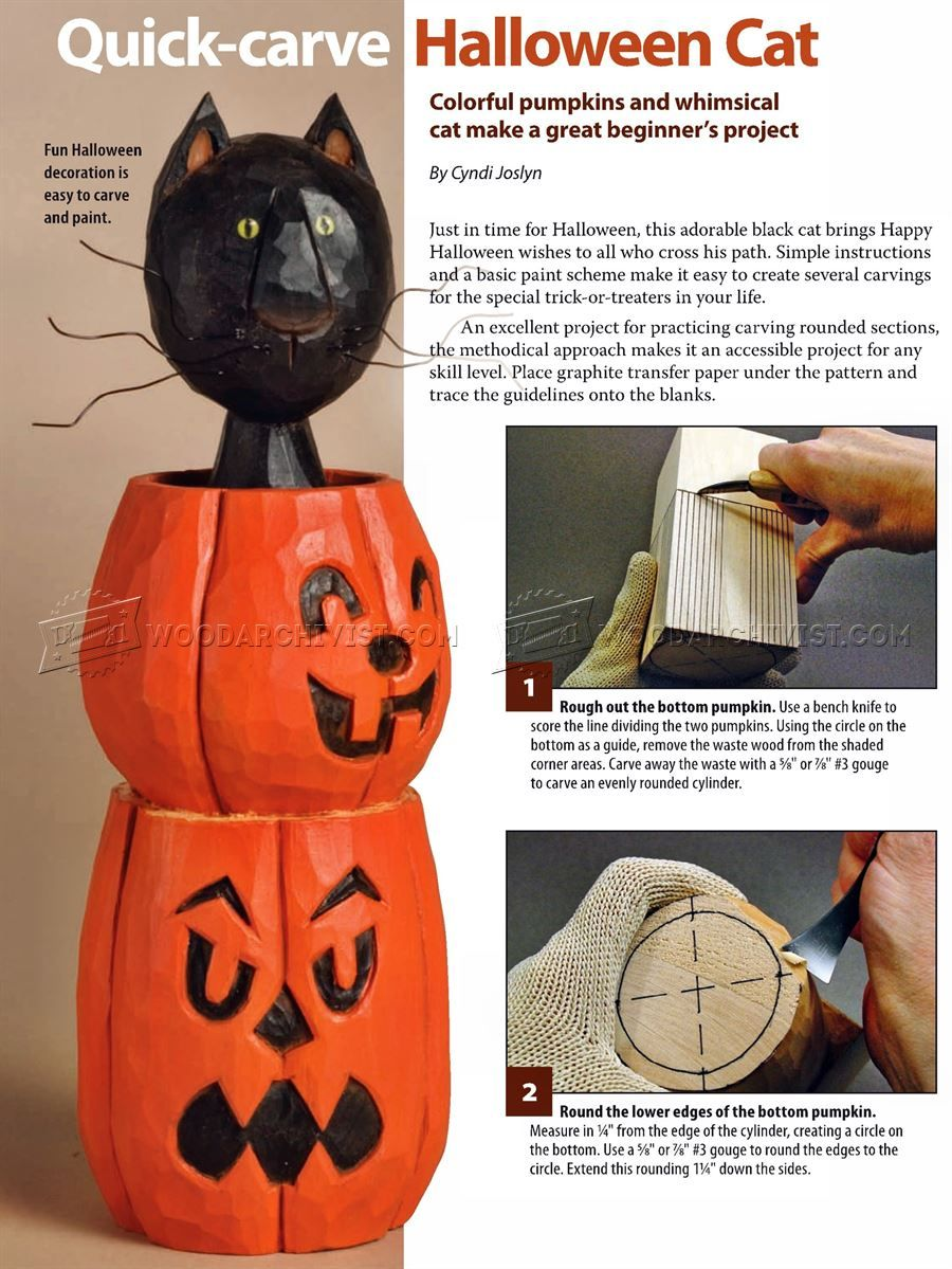 867 Halloween Cat Wood Carving Patterns Wood Carving Wood