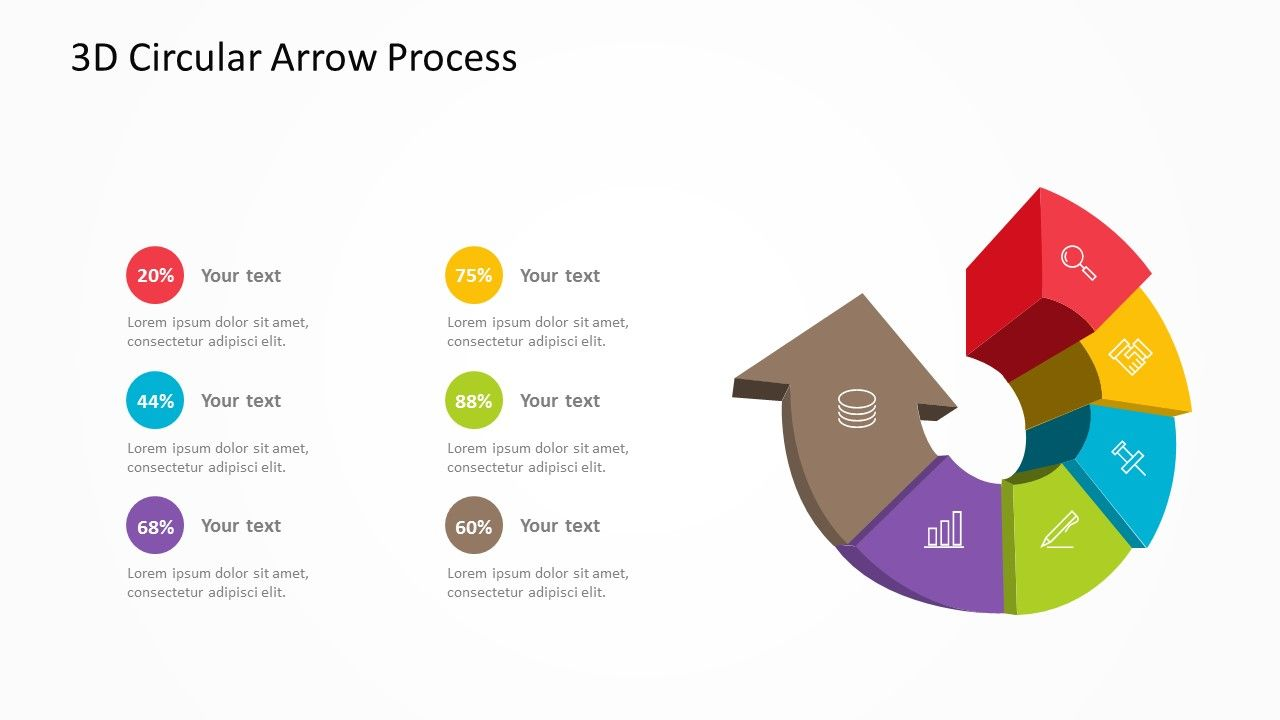 3D Circular Arrow Process. Related PowerPoint Templates 8-Stage Process  Diagram for PowerPoint Growth Stair Diagram for PowerPoint Project  Management ...