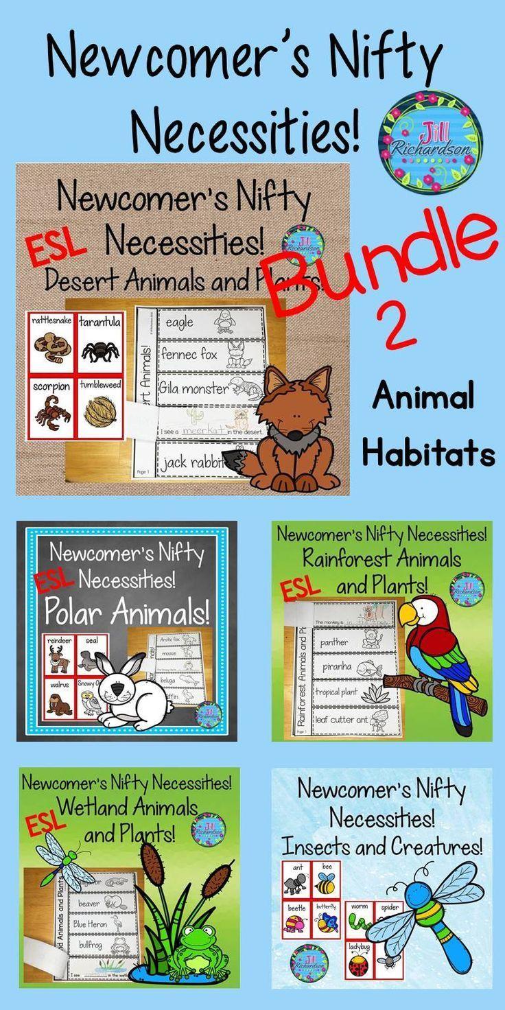 ESL Animal Habitats Bundle ESL Vocabulary For Beginners