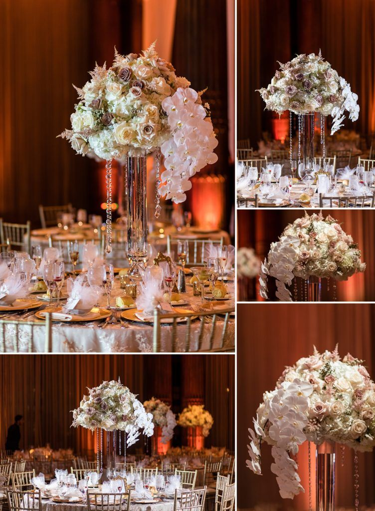 Crystal Tea Room Wedding With Images Wedding Reception Centerpieces Philadelphia Wedding Venues Wedding Flower Inspiration