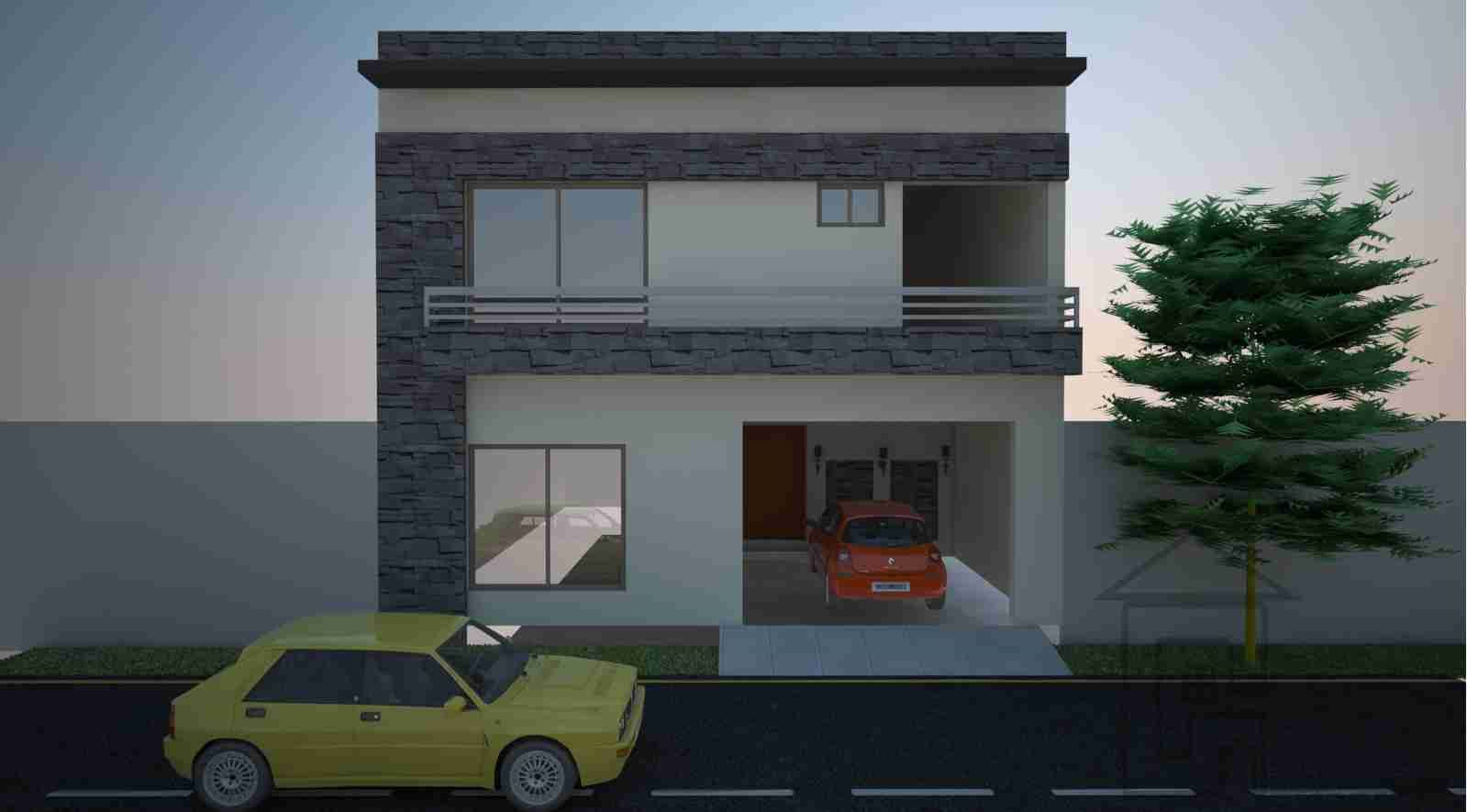 House design front elevation - House 100 Sq Yards House Plans Front Elevation