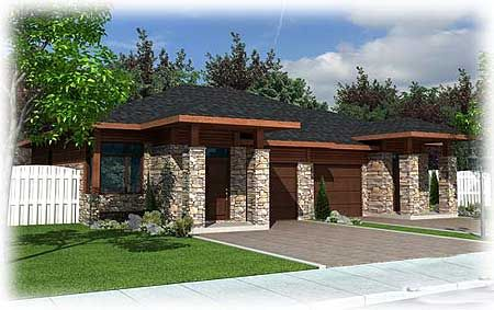 Plan Contemporary Multi Family Home Plan House Plans