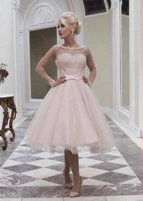 vestidos de novia cortos - ¡espectaculares ejemplos para ti