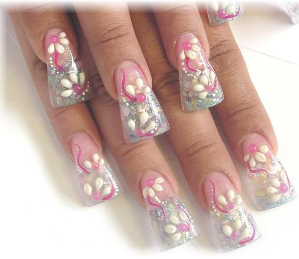 Acrylic Wide Tip Nails Luuux ภคΊlร Pinterest