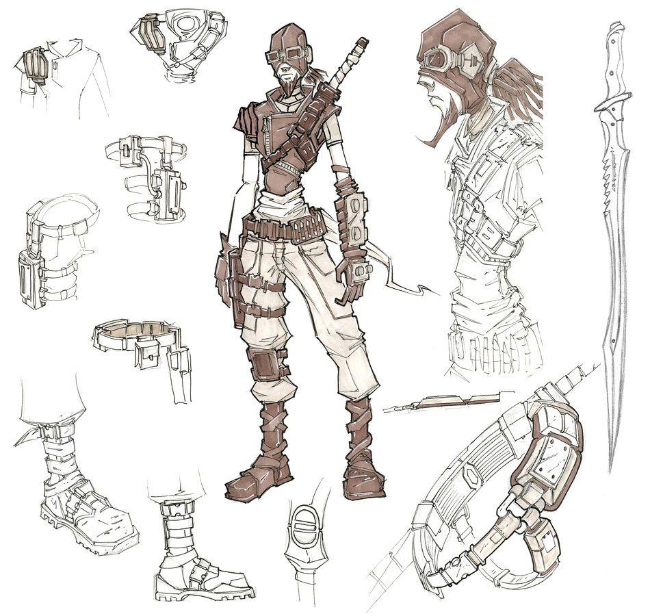 Character Design Profile : Borderlands mordecai the hunter concept art funny an
