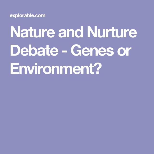 nature vs environment