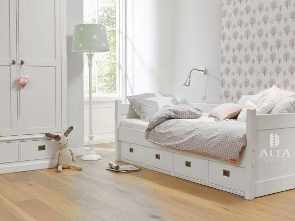 Bedbank met 4 opbergladen van de kinderslaapkamer en ...