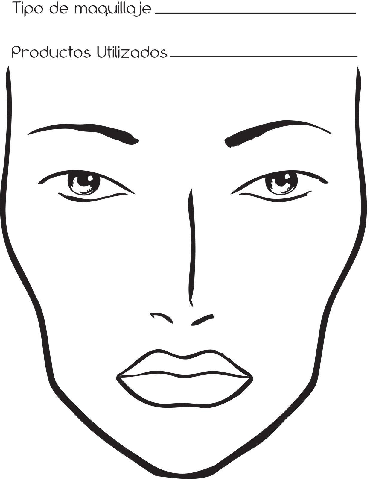 Bocetos Rostros Para Maquillar Libros De Maquillaje Gaficos De La Cara Dibujos De Maquillaje