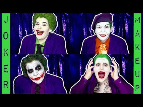 THE EVOLUTION OF JOKER MAKEUP - https://www.avon.com/?repid=16581277 Avon Eyebrow Solutions    In this video I'm transforming myself into FOUR Jokers to show the evolution of Joker makeup in movies. I started with Cesar Romero in the 1966 film Batman. Next I transformed into Jack Nicholson's Joker from the 1989 Tim Burton version of Batman. And then I recreated Heath Ledger's Joker from the Dark Knight. Last but not least I transformed into Jared Leto'