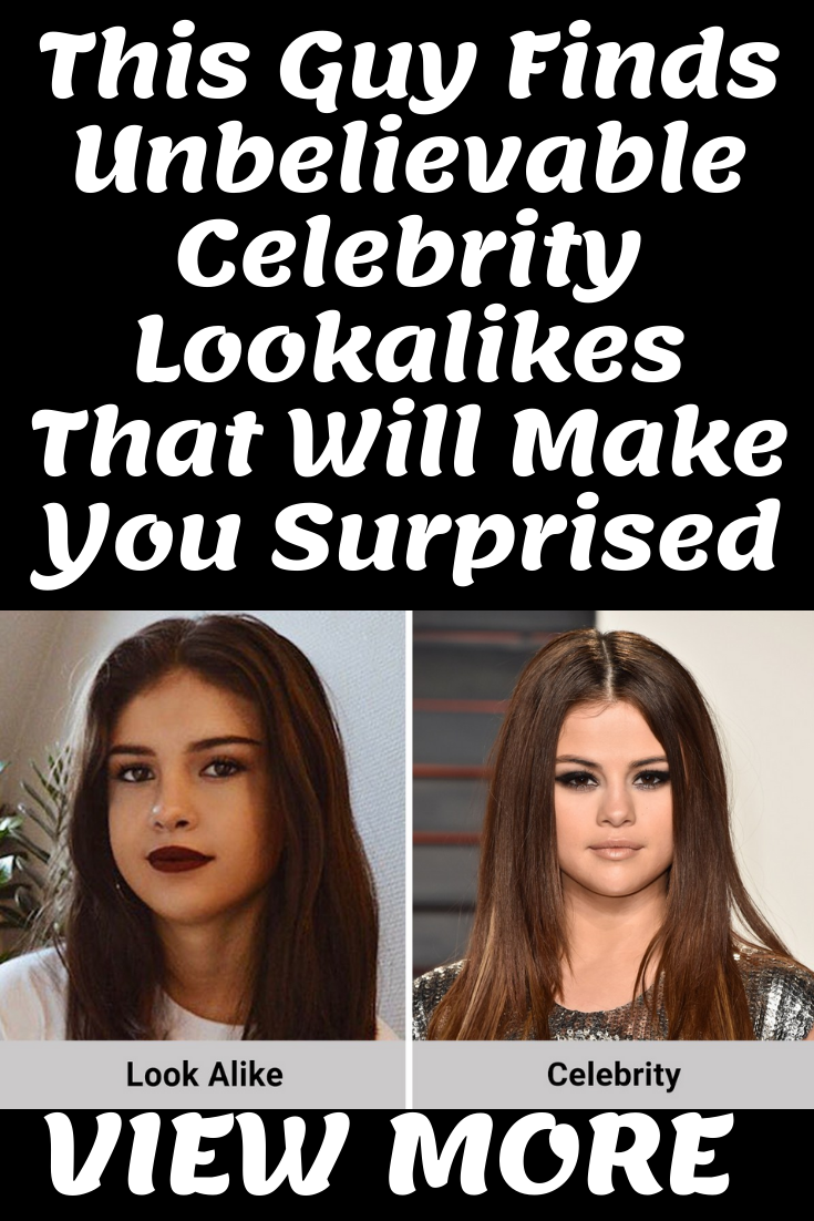 Lookalike Also Popularly Known As Doppelganger Are Something In This World That Every Person Has Got In Another Corner More Like A In 2019 Celebrities Celebrity Gossip Gossip