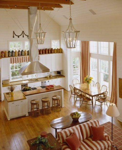 cozy kitchen rustic set sofa stripes | kitchens | pinterest
