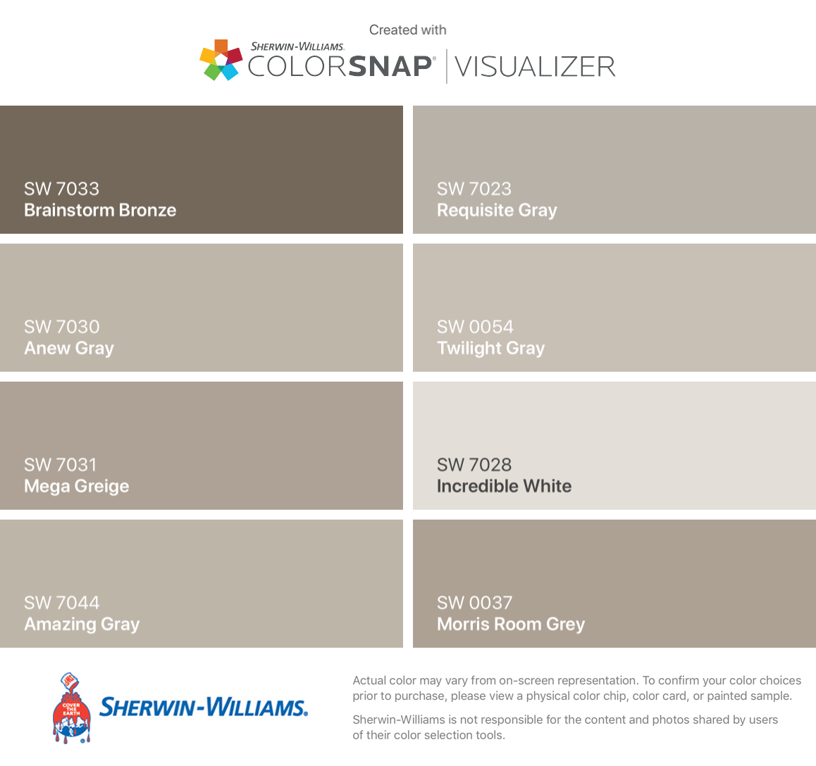 I Found These Colors With Colorsnap Visualizer For Iphone By Sherwin Williams Brainstorm
