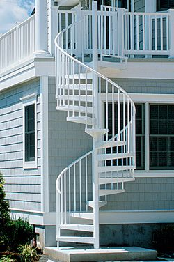 Outdoor Spiral Staircase on Deck Spiral Stairs And Exterior ...