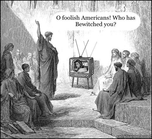 LOL, says it all, yeah it was the TV....