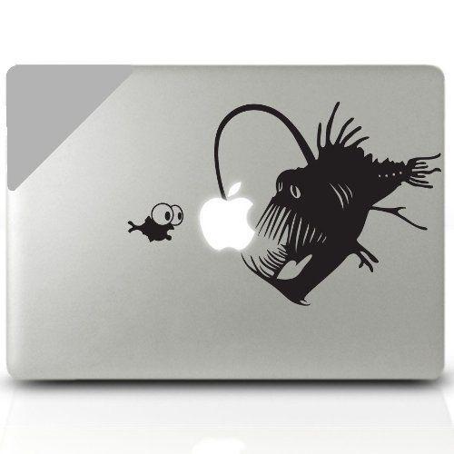 Angler Fish Macbook Decal Laptop Sticker Decorative Computer Accesory Electronics Mac Book Pro Apple Logo Skin Vinyl Stickers Decals, http://www.amazon.com/dp/B00BSHLHNS/ref=cm_sw_r_pi_awdm_60E1sb1DWYZE6
