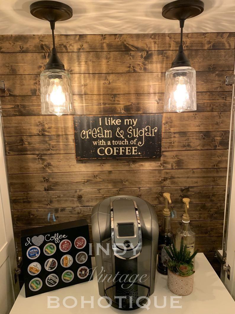 SOLD! Custom armoire coffee bar, coffee station, b