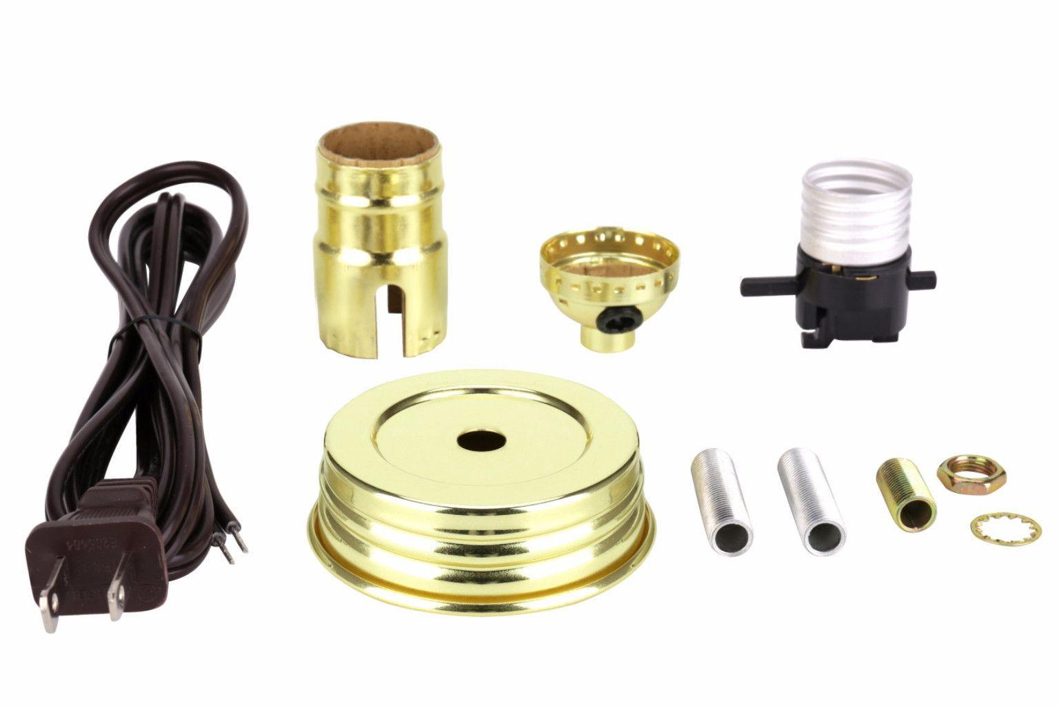 21028 Mason Jar Lamp Kit In Brass