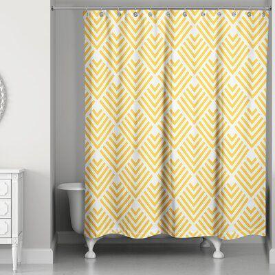 Wrought Studio Eloi Geo Arrows Single Shower Curtain Hooks Colour