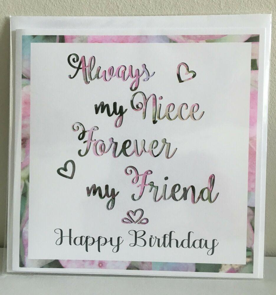 Niece Birthday Card, Niece Card, Always my Niece forever