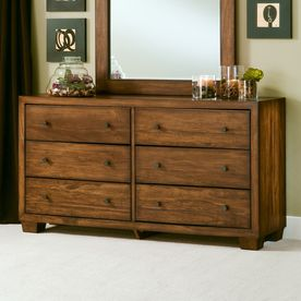 Modus Furniture Home Chelsea Park Macchiato 6 Drawer Double Dresser Lowes Com Modus Furniture Furniture Dresser
