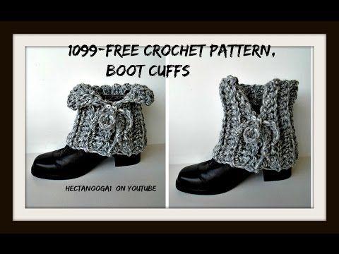Crochet Laced Boot Cuffs Free Crochet Pattern 1099yt Easy