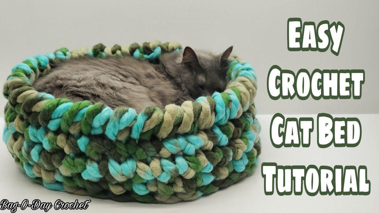 Easy Crochet Cat Bed Bagoday Crochet Tutorial 659 Subtitles