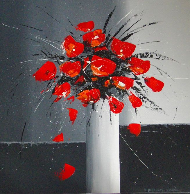Assez bouquet-rouge.jpg (654×670) | Art Coquelicots | Pinterest | Art  QZ34