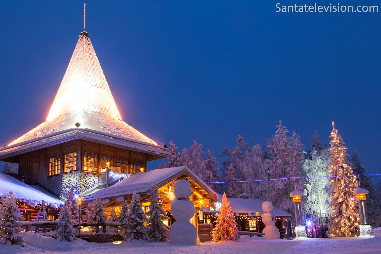 Rovaniemi Finlandia Villaggio Di Babbo Natale.Il Villaggio Di Babbo Natale A Rovaniemi In Lapponia Finlandia Babbo Natale Finlandia Natale