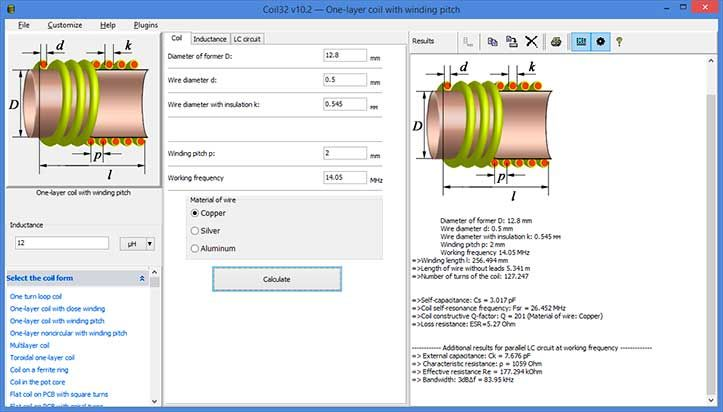 the coil inductance calculator | Science | Design, Calculator