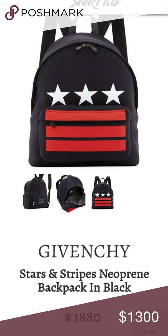 780856dee3e Givenchy Stars and Stripes Neoprene Backpack Nice backpack brand new ...