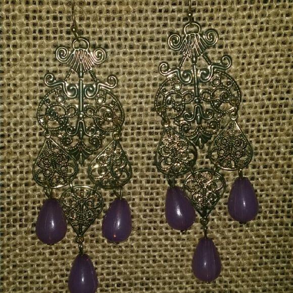 Chandelier earrings Chandelier earrings with purple accents. Jewelry Earrings