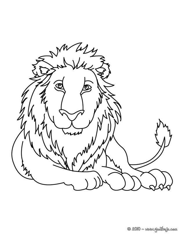Dibujo para colorear : León. Puedes imprimirlo, colorearlo en línea ...