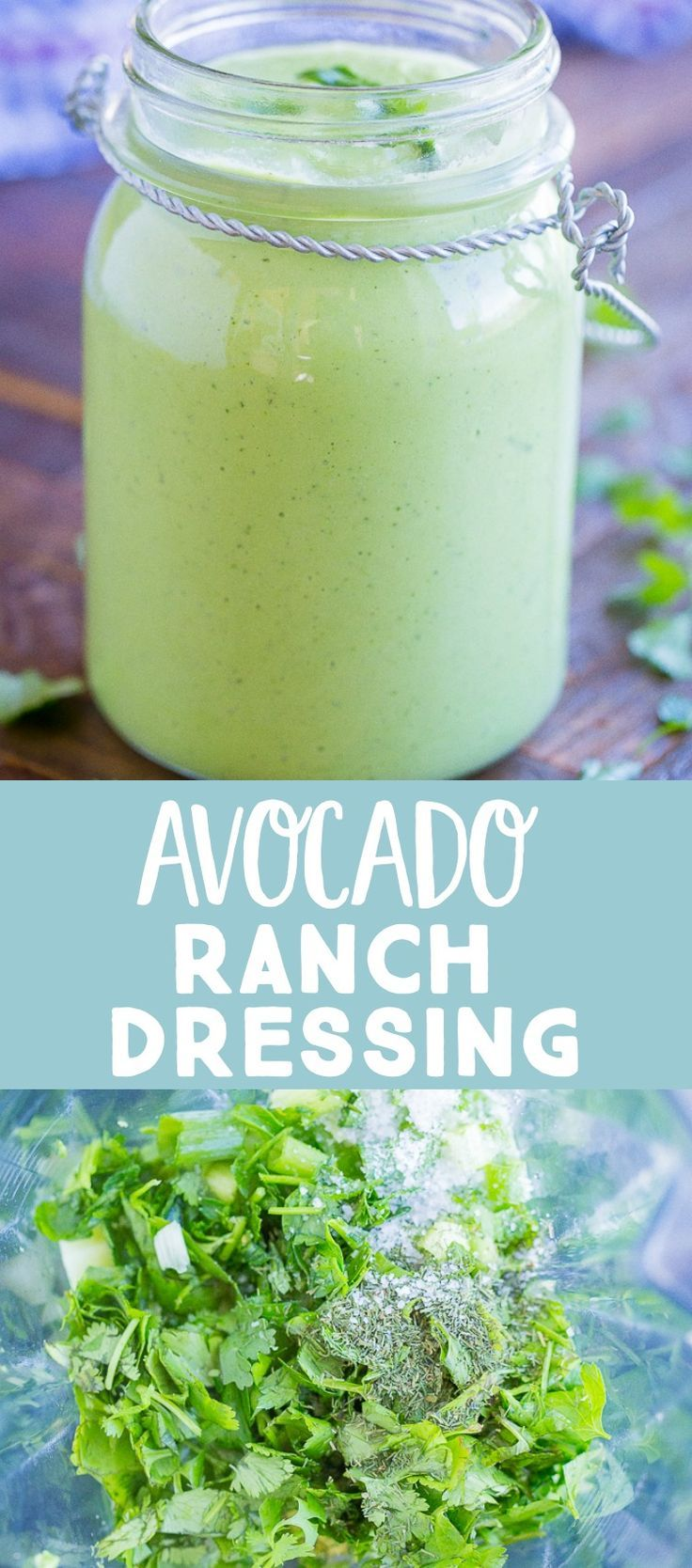 Avocado Ranch Dressing - She Likes Food