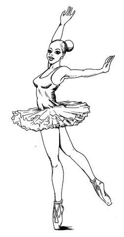 Desenhos de bailarinas para pintar e colorir  Bailarina para