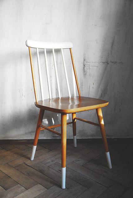 Krzeslo Drewniane Prl Loft Industrial Vintage 5520670034 Oficjalne Archiwum Allegro Furniture Renovation Furniture Dining Chairs