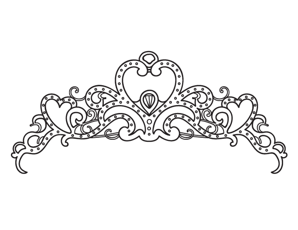 free printable princess crown coloring page. download it