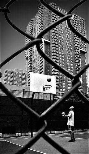 Black White Street Basket